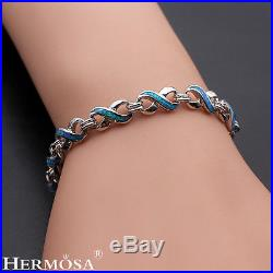75% OFF Fire Austrilia Opal Charm 8 Design Sterling Silver Xmas GIFT Bracelet 9