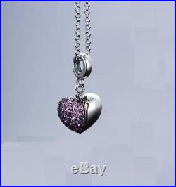 925 Silver Sterling Jewelry I Love You Heart Authentic Pandora Charms Bracelet