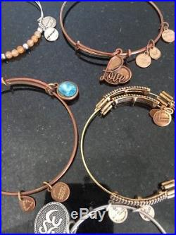Alex And Ani Lot Of 15 Bracelets And 2 Charms Sold Out