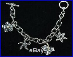Ann King & Steven Lagos Sterling Silver 18K Four Seasons Charm Bracelet