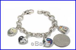 Asch Grossbardt Museum Collection Picasso 925 silver charm link bracelet new