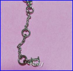 Auth CHRISTIAN DIOR Bracelet Bangle Chain AUTH Logo CD Vintage Rare Silver F/S