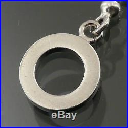 Auth GUCCI Signature Charm Ball Chain Toggle Bracelet 925 Sterling Silver