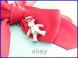 Auth New Tiffany & Co Silver Bear Pendant Charm For Necklace Or Bracelet