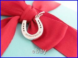Auth Tiffany & Co Silver 925 Horse Shoe Charm Pendant For Necklace Bracelet