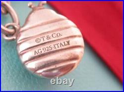 Auth Tiffany & Co Sterling Silver Blue Ladybug Charm 7.5 Bracelet
