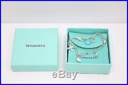 Auth Tiffany & Co. Sterling Silver Elsa Peretti 5 Charm Bracelet 7.25
