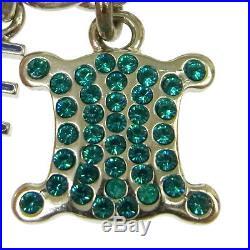 Authentic CELINE Vintage Logos Charm Silver Chain Bracelet Accessories AK25776b