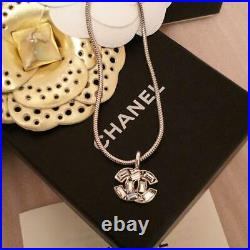 Authentic CHANEL Rhines CC Charm Chain Bracelet Silver Used from Japan F/S