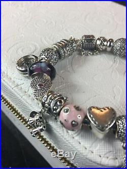 Authentic Full/Complete Charm Bracelet 7.5 (Free Pandora Jewelry Box)