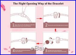 Authentic Pandora Bracelet Silver Charm With Purple Crystal European charmsNIB