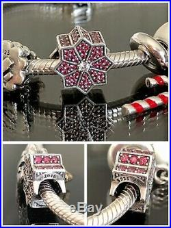 Authentic Pandora SSilver Iconic Bracelet WithChristmas Themed Pandora Charms Box