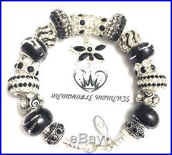 Authentic Pandora Sterling Silver European Charm Bracelet B11