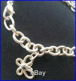 Authentic Tiffany & Co. 2003 Silver Charm Bracelet Flower Butterfly Moon Star