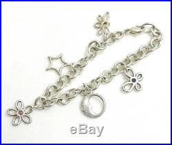 Authentic Tiffany & Co. Bracelet charm butterfly moon star Sterling Silver #3859
