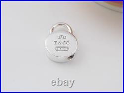 Authentic Tiffany & Co Silver 1837 Padlock Round Charm 4 Necklace Bracelet