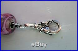 Beautiful Genuine Trollbeads Sterling Silver Bracelet With Charms & Lock