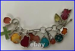 COREEN CORDOVA Que Milagro Sterling Silver Chain with 11 Unique Charms Bracelet