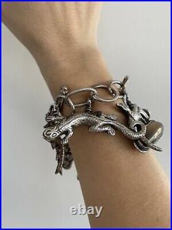 COREEN CORDOVA Que Milagro Sterling Silver Chain with 6 Unique Charms Bracelet