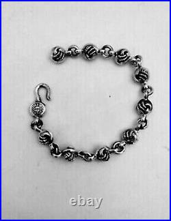 Chrome heart authentic sterling silver Claw link bracelet