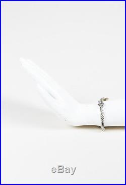 David Yurman Sterling Silver 18k Gold Cable Heart Charm Bracelet