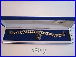 Disney Sterling Silver Bracelet & 1 Charm Thumper Bambi. 95 Oz 7 Long