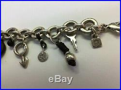 Estate Find Uno de 50 Silver-plated Charm Bracelet 7.5-8