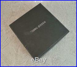 GEORG JENSEN Sterling Silver Bracelet & Quartz Orb Charm Pendant in Box