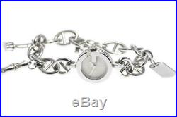 GUCCI 107 Chain Bracelet with charm Silver Dial Quartz Ladies Watch 538324