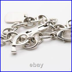 GUCCI Charm Bamboo Bracelet Sterling Silver 925 g4345