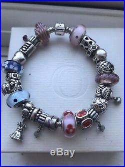 Genuine Pandora bracelet with 23 Pandora charms 20cm, Sent Next Day Special