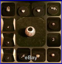 Genuine Rose Gold Pandora Bracelet With 11 Charms