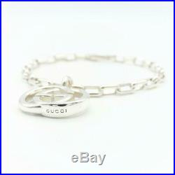 Gucci Sterling Silver 925 Charm Bracelet Silver Used