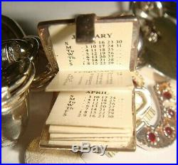 HEAVY VINTAGE SILVER NUVO CHARM BRACELET & CHARMS IN ORIGINAL NUVO BOX 122g