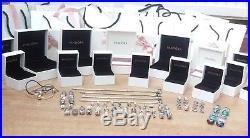 Huge bundle / job lot of Genuine Pandora silver charms, bracelets, boxes & bags