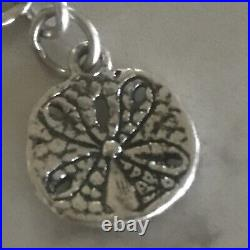 JAMES AVERY Sterling Silver Link Chain Bracelet Turtle Seahorse Shell Charms