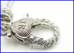 JUDITH RIPKA 925 Silver Pearl & Multi-Gemstone Charmed Chain Bracelet B6341