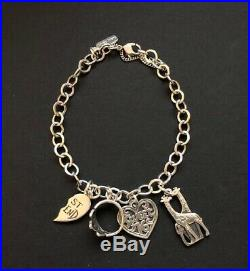 James Avery 925 Silver 8 Charm Bracelet with Assorted Charms (4 Charms)