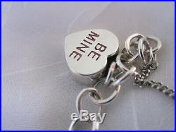 James Avery Be Mine Charm Bracelet Sterling Silver SS