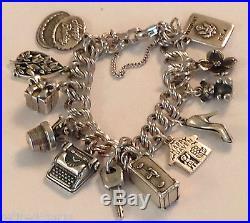 James Avery Charm Bracelet 12-4 Retired Heavy Curb Silver New Just Made Ja Box