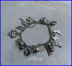 James Avery Sterling Silver. 925 Charm Bracelet 21 Charms Retired Pieces