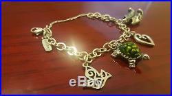 James Avery Sterling Silver 925 Heart Dove Cowboy Boots Charm Bracelet