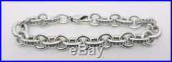 James Avery Sterling Silver Beaded Cable Charm Bracelet 7.25 Lb-c1860