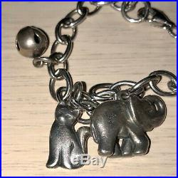 James Avery Sterling Silver Bracelet & Charms 6 Total, 4 Retired