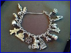James Avery Sterling Silver Bracelet With 15 Sterling Silver Charms