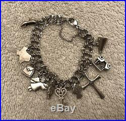 James Avery Sterling Silver Charm Bracelet 10 Charms Some Rare & Retired