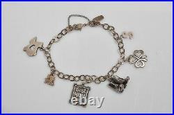 James Avery Sterling Silver Charm Bracelet & 6 Charms