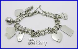 James Avery Sterling Silver Charm Bracelet With Nine Charms Lb-c0978