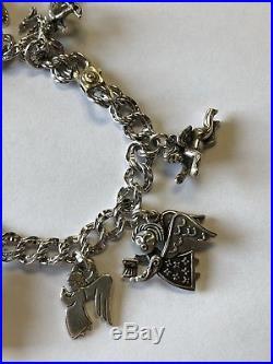 James Avery Sterling Silver Loaded 9 Angels Charm Bracelet