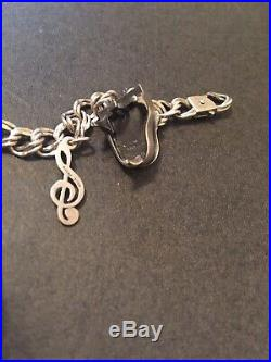 James Avery Sterling Silver Music Special Friend Charms Bracelet